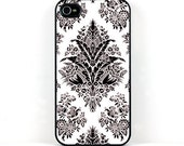 iPhone 4 Case,  Vintage Design in Black and White, Retro inspired iPhone 4 Cover, Plastic iPhone 4 Case, Phone Accessories