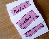 Pink Pearl - 3 blank cards