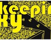 "Very 70s-ish ""Beekeeping is Sexy"" bumper sticker"