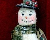 Primitive Snowman Holiday Decoration, OFG Team