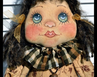 Primitive doll E Pattern cloth doll sewing pattern Abby 712 OFG Team