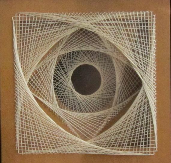 Line Design String Art : String art geometric abstract home décor wall original