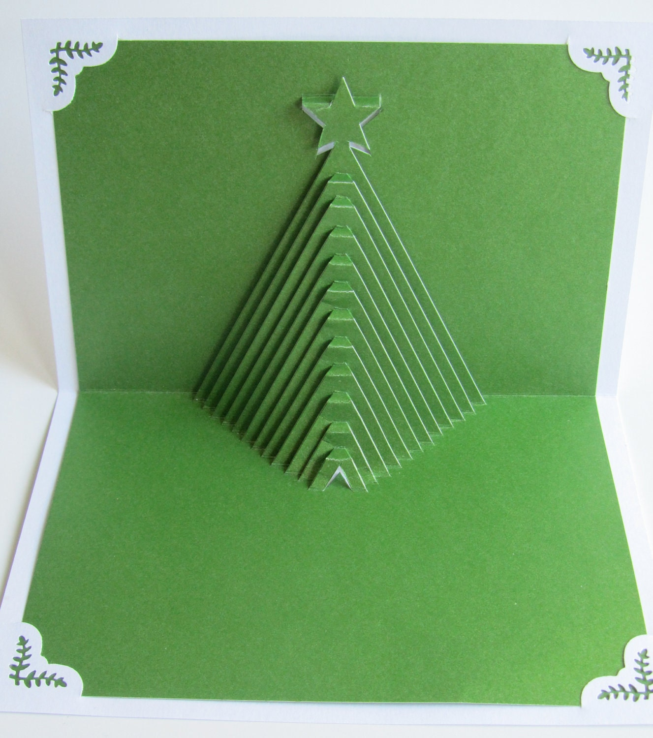 Christmas tree pop up home d cor 3d handmade cut by hand for 3d christmas cards to make at home