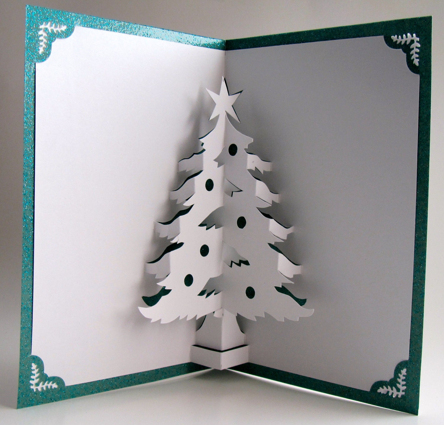 Christmas tree 3d pop up home d cor handmade cut by hand for 3d christmas cards to make at home
