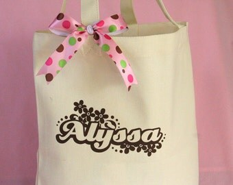 Flowers Personalized Canvas Bag