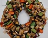 Fall Ribbon Wreath - Thanksgiving