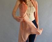 Summer feather- SPECIAL SALE-Dark peach  handmade shawl top one size