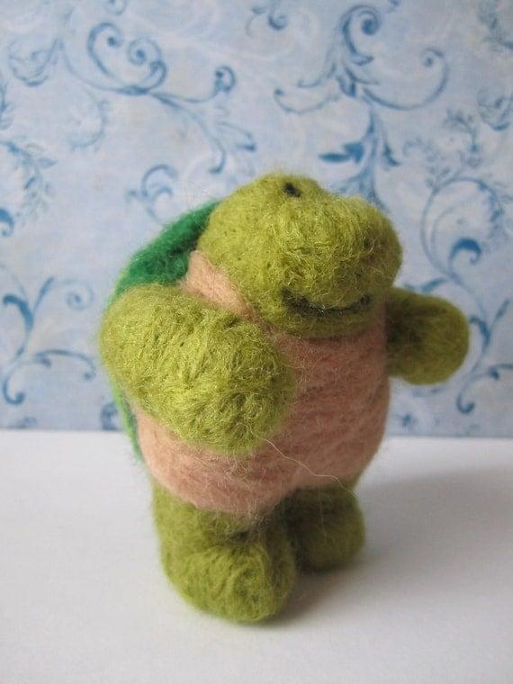 Jackson Turtle Felted Figurine