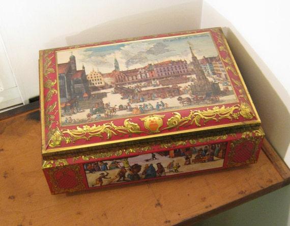 Vintage Biscuit Tin E Otto Schmidt