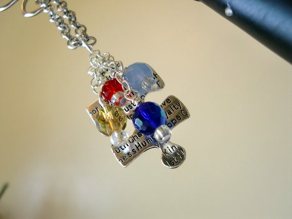 3 Autism Awareness Necklace - Reserved