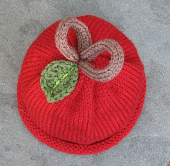 Baby Apple Knit Hat