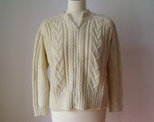 Vintage 1980's Cropped Cardigan