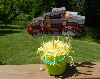 Fire Truck Table Decorations-set of 9