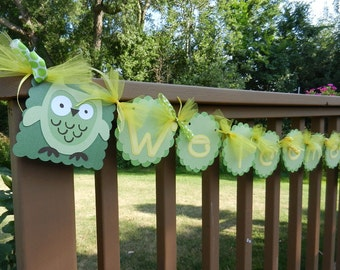 Gender Neutral Welcome Baby Banner With Name