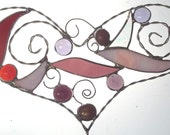 Valentine's Day Wire Stained Glass Heart