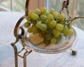 Greek Key Inspired Hollywood Regency Brass Server