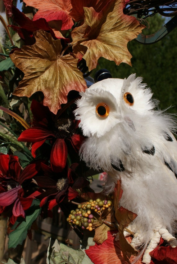 Funky Owl Wreath and Beautiful Flowers