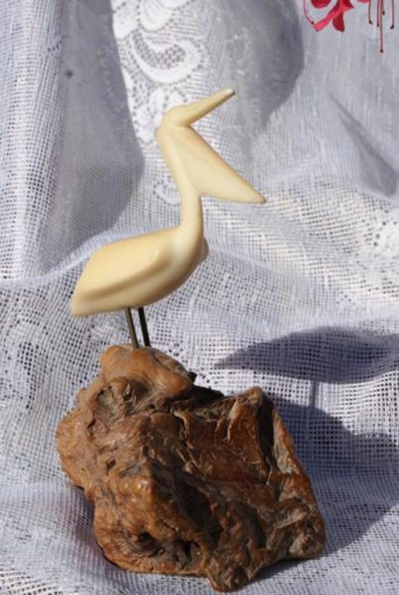 Mid Century John Perry Small Pelican Sculpture Art