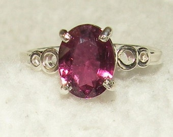 Raspberry Wine Tourmaline Ring