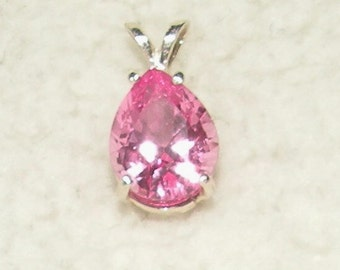 Pink Pear Topaz Pendant