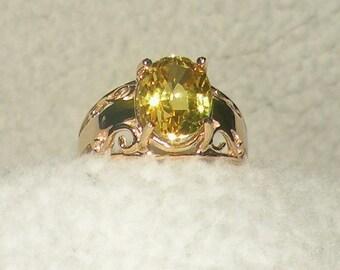 14kt  Yellow Sapphire Ring