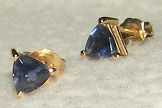 Reserved for Trish Trilliant Tanzanite Earrings