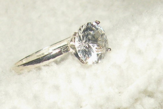 2.30ct White Sapphire Solitaire Engagement Ring