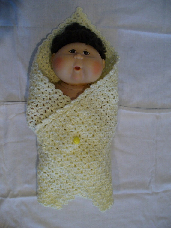 Crochet Pattern For Swaddle Blanket : Items similar to Swaddling Doll Blanket - Crochet Pattern ...