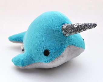 Narwhal Plush - Sparkle Tooth - Small - MADE TO ORDER (Choose colors)