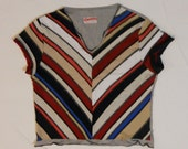 Multicolored stripes T-shirt  -size M, SALE 50% OFF, Was 30,- is 15,-