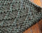 PDF Pattern Knit Diamond Stitch Coasters