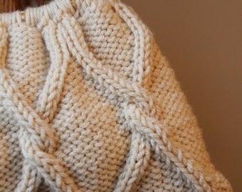"PDF Pattern Knit Cable Handbag ""Elise"""