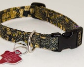 Faux Camo with Gold Tint - Dog Collar - Adjustable
