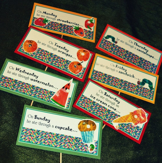 Very Hungry Caterpillar Food Labels