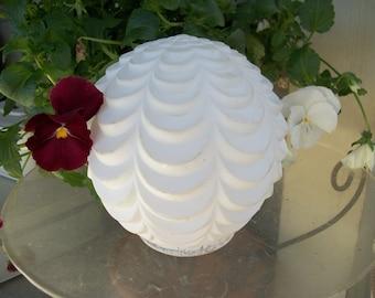 Vintage white light fixture cover