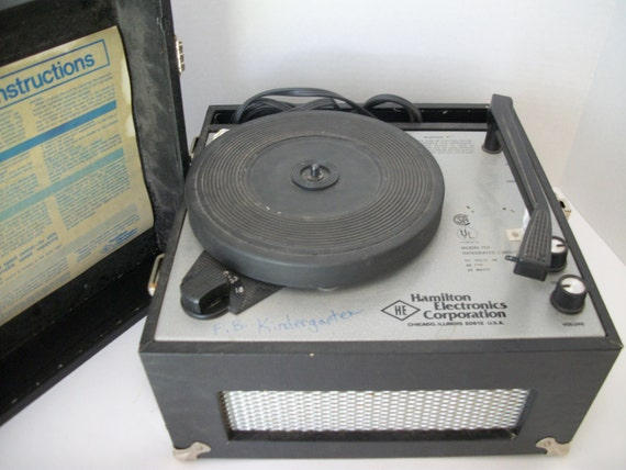 Retro Record Player, Vintage Hamilton Electronics Record Player, Model Number 910