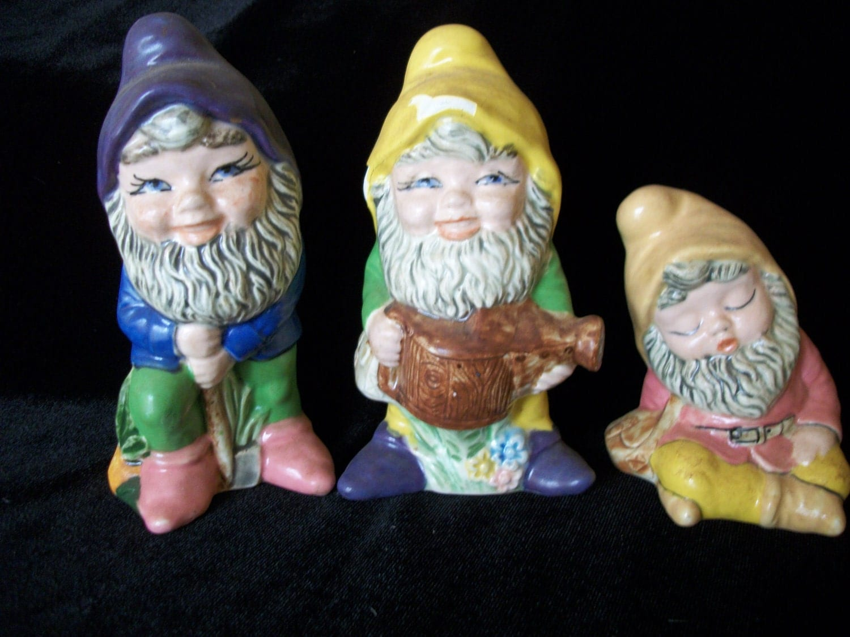Garden Gnomes On Sale: SALE Vintage Gnomes Garden Gnomes