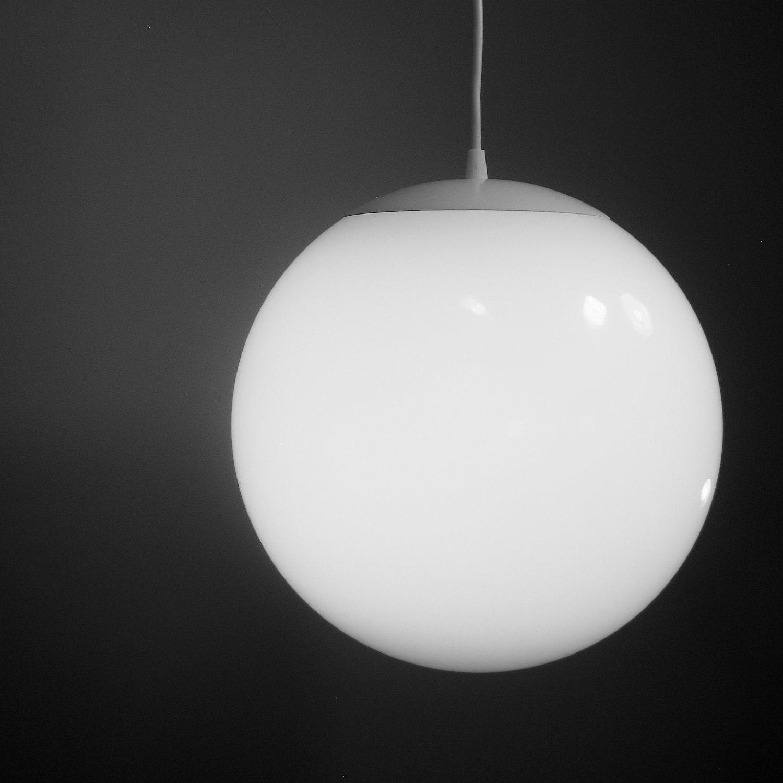 Lighting Globes Glass : Pendant light large inch glass globe mid century modern