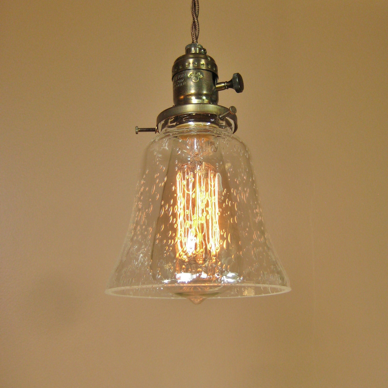 Mini pendant light antique vintage reproduction ceiling light for Antique pendant light fixtures