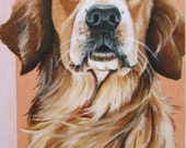 Golden Retriever: 5 x 7 acrylic painting on canvas board
