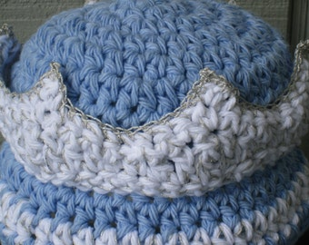 Crown Prince or Princess Hat, King, Queen, Crochet Pattern