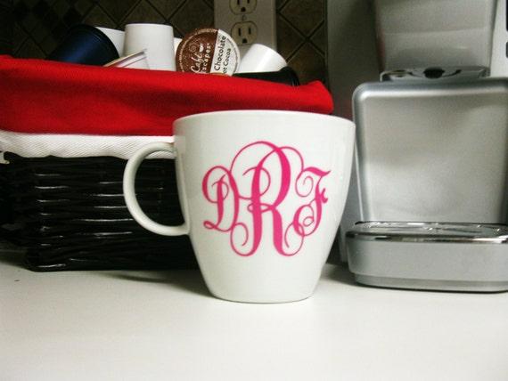 Monogram Bistro Mug