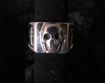 Solid Sterling Silver Skull Ring