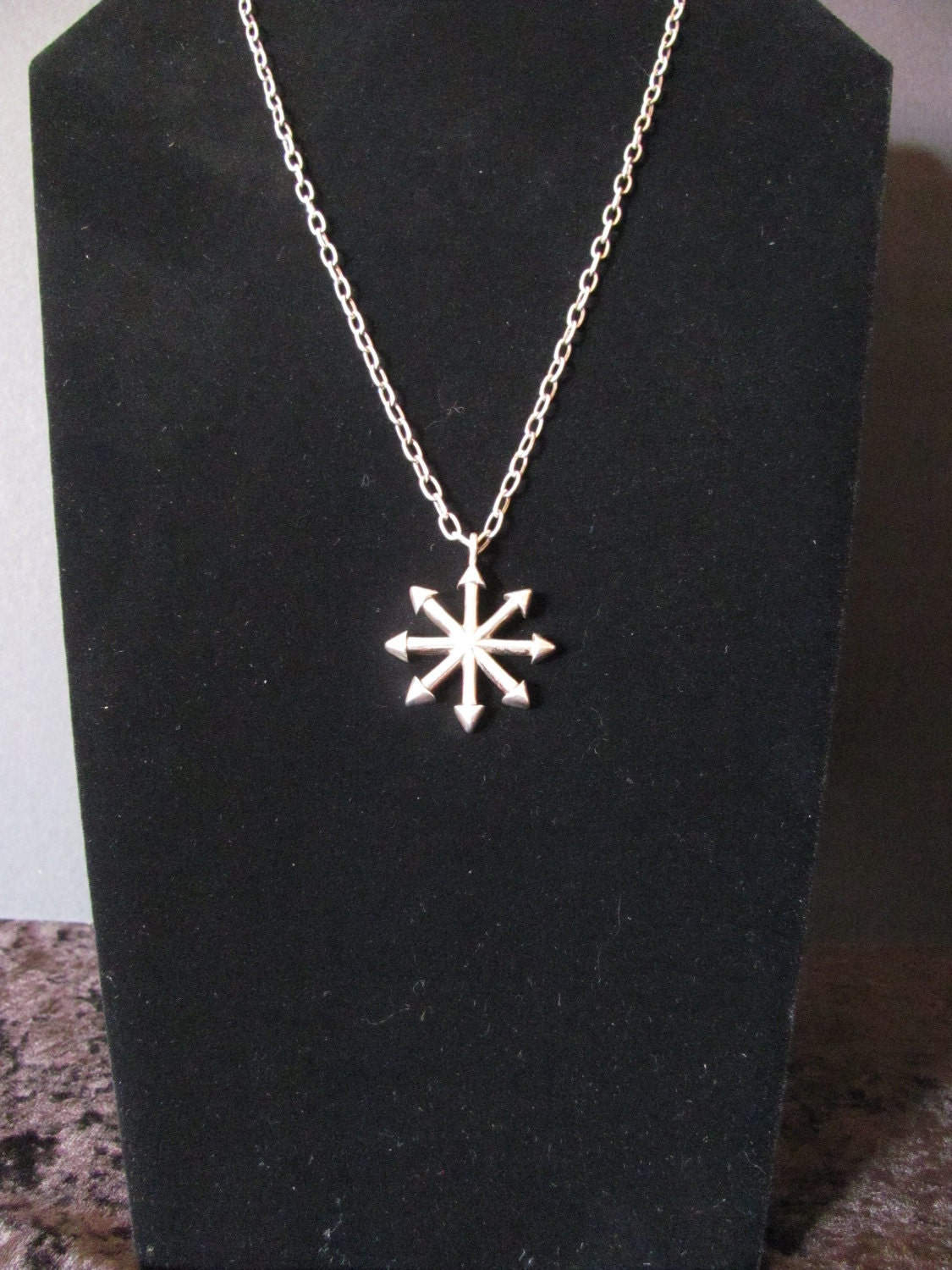 Sterling Silver Chaos Star Necklace