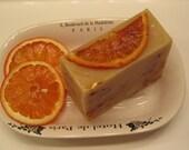 Cold Process Cinnamon and Orange Slice Soap Vegan Friendly