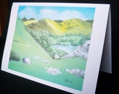 A View of Ullswater from the Upper Pass Notelet by WJM