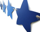 Star Paper Banner Blue Party Wall Decoration Nursery Hanging Celebration Garland
