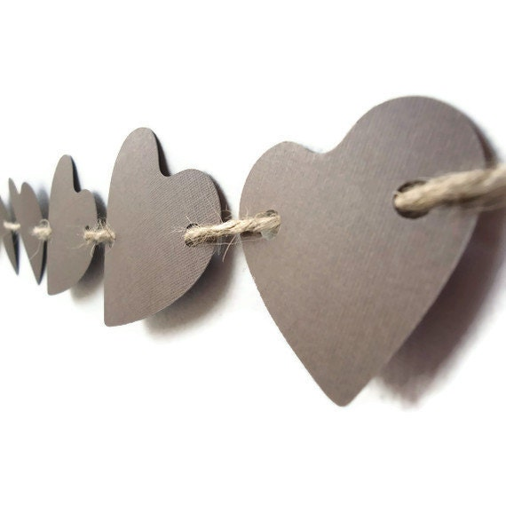 Love Paper Banner Heart Wedding Brown Rustic Wall Decor Garland Photo Prop