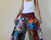 Wide Leg Pants Boho Patchwork  : Boho Patchwork Pants Collection II