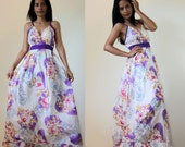 Flower Girl Dress Cute V-Styled Neck Maxi Dress : Sweetie Vintage Collection